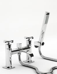 Beo Topaz Bath Shower Mixer Tap With Shower Kit Chrome