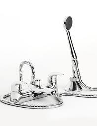 Beo Atlas Deck Mounted Bath Shower Mixer Tap Chrome