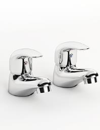 Beo Atlas Pair Of Basin Taps Chrome
