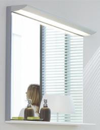 Duravit Darling New 1200 x 800mm Mirror With Lightning And Wooden Shelf